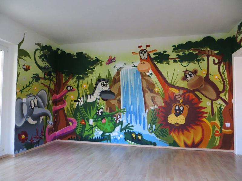 Kinderzimmergestaltung Chemnitz Dschungel