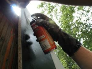 Sprayer bei der Arbeit